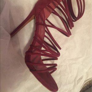Shoes - Burgundy Heels, never worn