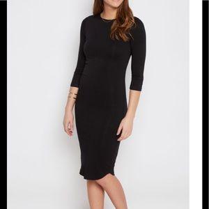 1 hour sale NWT black soft knit midi dress M