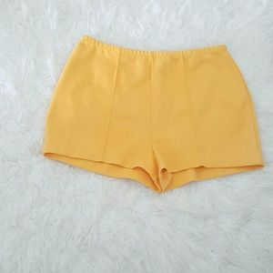 The Red Eye Pants - Yellow High Wasted Shorts