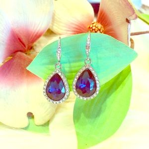 Swarovski Jewelry - 🌷🆕 Swarovski Crystals Royal Blue Drop Earrings