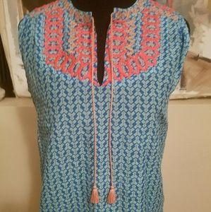 J. Crew Tops - J.CREW Silk Mix Embroidered sleeveless top