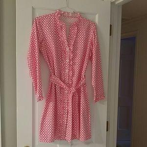 Kayce Hughes Dresses & Skirts - Kayce Hughes Self Tie Shirt Dress