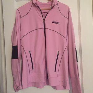 Cutter & Buck Jackets & Blazers - Cutter & Buck pink, GB Packers full zip jacket.