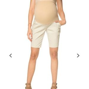 Motherhood Pants - Maternity khaki shorts