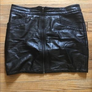 HM Leathercraft Dresses & Skirts - H&M leather skirt