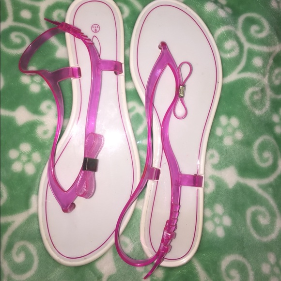 72 shoes pink and white plastic sandals size 8 from