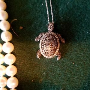 Jewelry - SOLD! White Gold and Diamond Turtle Necklace