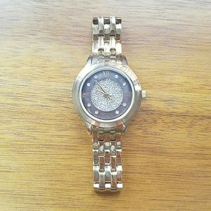 Armitron Accessories - Armitron Swarovski crystal accent gold watch