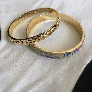 Lilly Pulitzer GWT gold bangle set