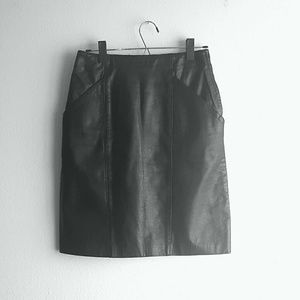 Trumps Dresses & Skirts - Black Leather Skirt Vintage