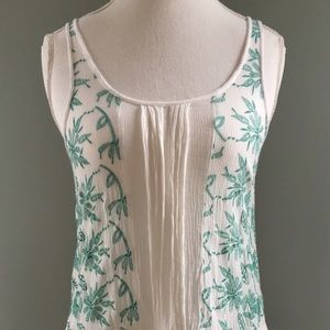 Lilka Embroidered Lace Tank Top