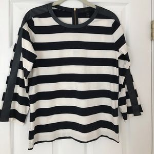 JCrew Blue and White Striped Shirt