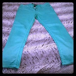 Rewash Denim - Green sparkly skinny jeans