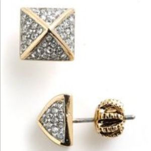 Juicy Couture Pave Pyramid Rhinestone Earrings
