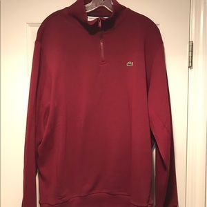 Lacoste 1/4 zip pullover New