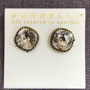 Sorrelli Jewelry - Sorrelli Swarovski Clear Crystal Faceted LG studs
