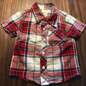 Peek Other - Peek Kids plaid button shirt 6-12 months