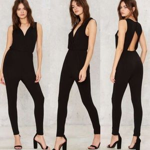 Nasty Gal Pants - Nasty gal back for good cutout jumpsuit - large