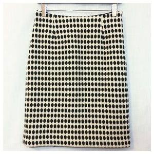 Milly Dresses & Skirts - Milly New York Black Cream Dot Wool Pencil Skirt 6