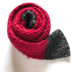 Hand knit scarf.