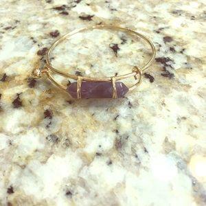 Natural Stone Brass Bracelets Bangle