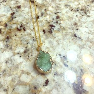 Druzy Stone drop necklace