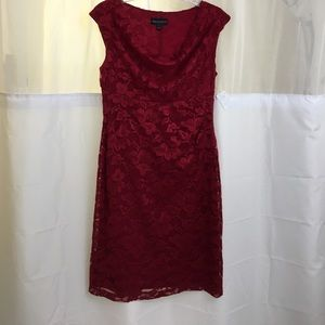 Connected Apparel Dresses & Skirts - All over red lace dress