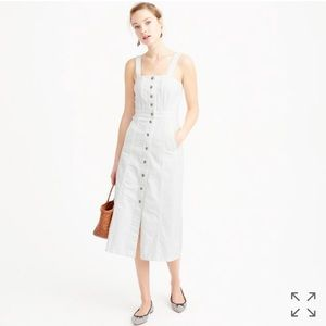 J. Crew Dresses & Skirts - J. Crew Button Front Dress in White Denim
