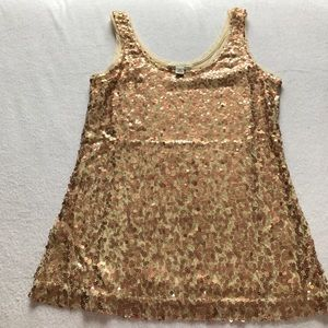 Banana Republic sequin front tank top.