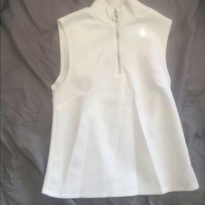 White Zara top with zipper detailing