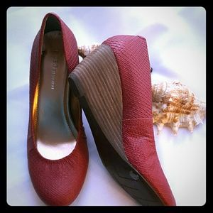 BCBGeneration Shoes - BCBGeneration red wedge heels