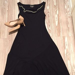 SL Fashions Dresses & Skirts - S.L. Fashions Mermaid Scoop Neck Black Dress
