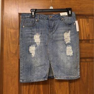 NWT Decree Denim Mini Skirt