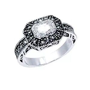 "Park Lane Jewelry - Park Lane ""REIGN"" RING w/ CZ + Marcasite  Size 7.5"