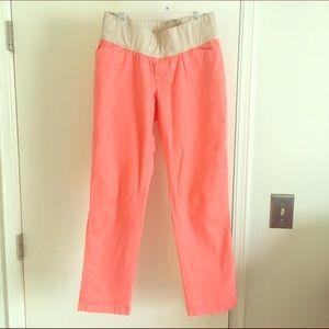 GAP Pants - Cute spring GAP maternity coral cropped khakis.