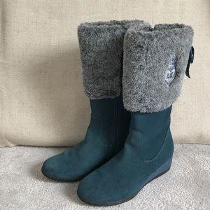 Lelli Kelly Kids Other - Lelly Kelly kids blue green suede boots 4 / 35