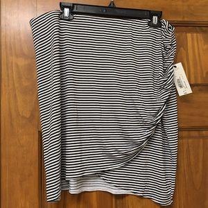 NWT Asymmetrical a.n .a. Striped Mini Skirt