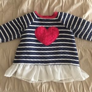 Little Me Other - Little Me Rose Heart Chiffon Ruffle Top