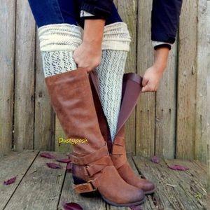 HUE Accessories - Thigh High Over The Knee Socks Crochet OTK Boot
