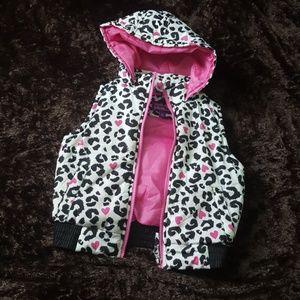 Pink Platinum Other - Animal Print Puff Vest Girls Size 7/8