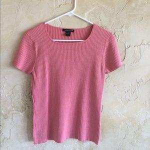 august silk Tops - Peachy pink shirt