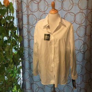 Chaps Tops - Chaps Long Sleeve White Button Down Shirt 2X NWT