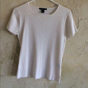 august silk Tops - Off white shirt