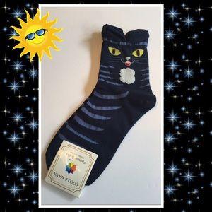 Coco & Hana Other - Girls Navy Kitty Socks