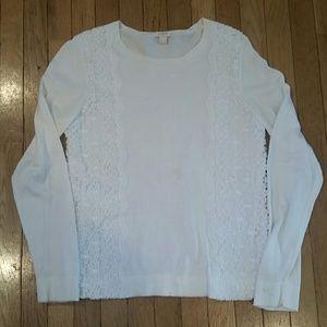 J.Crew lace side sweater