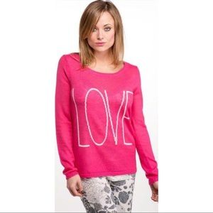 Love script sweater Pullover