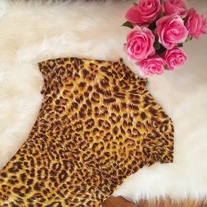 Norma Kamali Tops - Vintage Norma Kamari Leopard Print Turtleneck Top