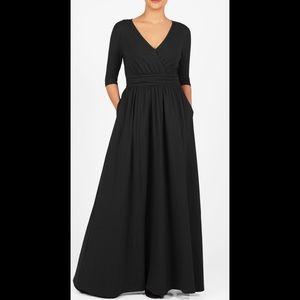 eshakti Dresses & Skirts - New Eshakti Black Fit & Flare Maxi Dress 18W