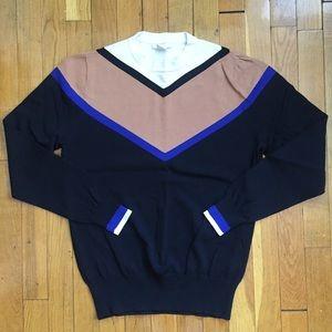 H&M Sweaters - H&M Color-Block Chevron Lightweight Sweater