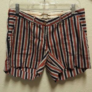 Scotch & Soda Pants - Summer Striped scalloped shorts